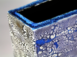 """Crawling blue vase"" detail piece"