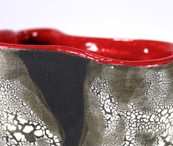 """Crawling red vase"" detail piece"